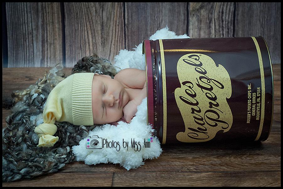 Unique baby boy portraits michigan newborn photographer
