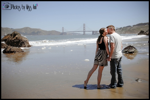 China Beach San Francisco Engagement Session Photos by Miss Ann