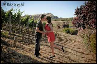 Domaine Carneros Engagement Session Photos by Miss Ann Destination Engagement Photographer
