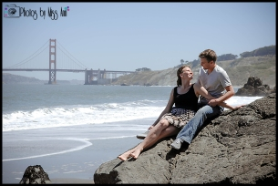 Dreamy Beach Engagement Session Photos China Beach San Francisco Engagement Session Photos by Miss Ann