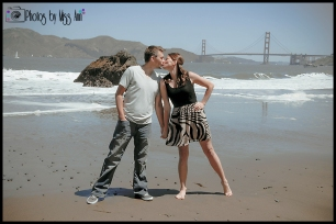 Kissing China Beach San Francisco Engagement Session Photos by Miss Ann