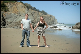 San Francisco China Beach Engagement Session Photos by Miss Ann