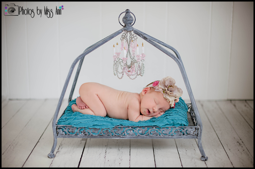 Michigan Newborn Girl Photography Plymouth Michigan Glamorous Newborn Session