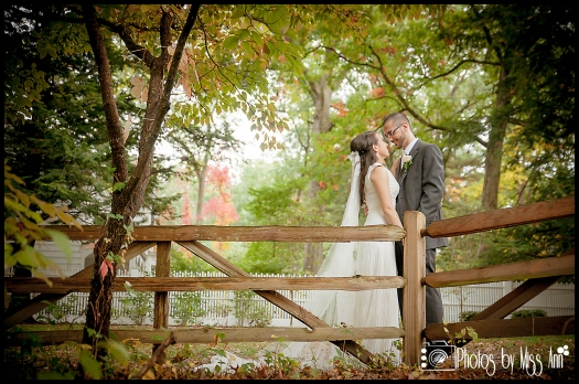 Perfect Fall Wedding Photo at Wildwood MetroPark Toledo Reception at Central Park West Toledo Ohio