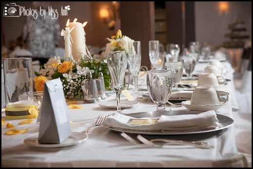 Table Setting Webers Inn Wedding Ann Arbor Wedding Photographer Photos by Miss Ann