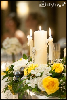Unity Candle as Head Table Decor MI Wedding Photographer Photos by Miss Ann