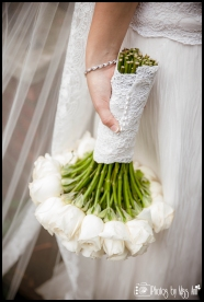 White Rose Bridal Bouquet Toledo Ohio Wedding Photographer Photos by Miss Ann