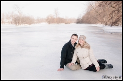 Beautiful snowy engagement session in Ann Arbor Michigan Photos by Miss Ann