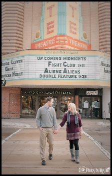 Michigan State Theater Engagement Session by Photos by Miss Ann
