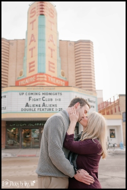 State Theater Downtown Ann Arbor Engagement Session by Photos by Miss Ann
