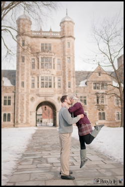 U of M Engagement Session Law Quad Photos by Miss Ann Jump Kiss