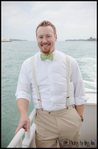 Groom Portraits Infinity Ovation Yacht Wedding Photos by Miss Ann