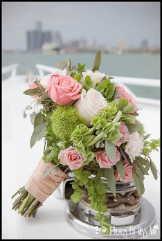 Infinity Yacht Wedding Bouquet Michigan Wedding Photographer Photos by Miss Ann