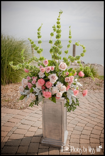 Lakeside Wedding Details Lime Green and Pink Wedding Flowers Plymouth MI Wedding Photographer