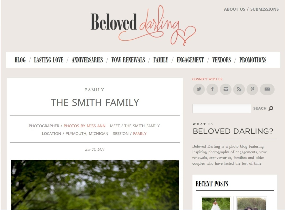 Photos by Miss Ann Featured on Beloved Darling