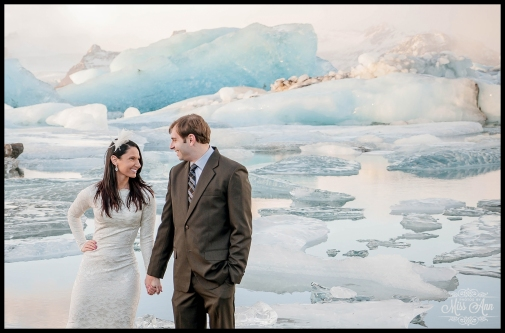 Glacier Lagoon Iceland Wedding Jokulsarlon Photos by Miss Ann
