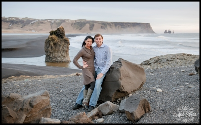 Iceland Engagement Session Dyrholaey Cliffs Photos by Miss Ann
