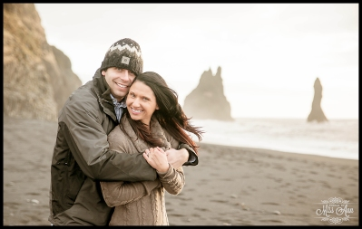 Iceland Wedding Anniversary Reynisfjara VIK Beach Photos by Miss Ann