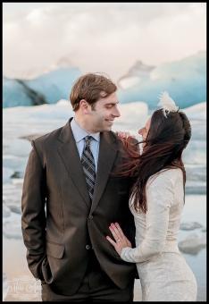 Iceland Wedding Anniversary Session Jokulsarlon Glacier Lagoon