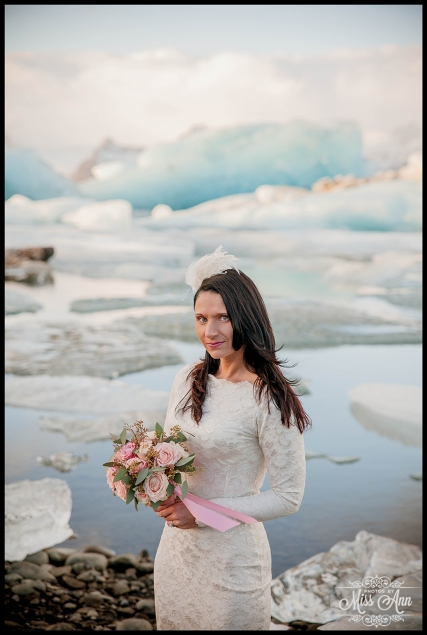 Iceland Wedding Jokulsarlon Glacier Lagoon Photos by Miss Ann