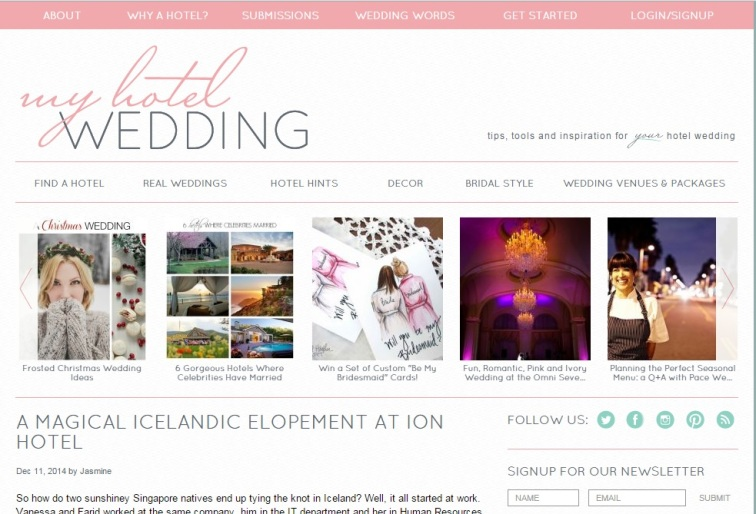 Iceland Winter Wedding Featured on My Hotel Wedding